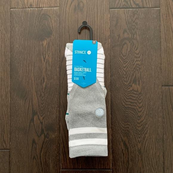 Stance Fusion Basketball Men's Socks White Large